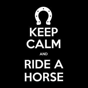 Camiseta Keep Calm and Ride a Horse - Preta