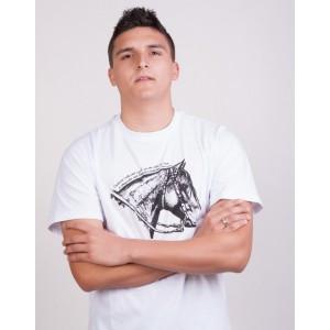 Camiseta Cavalo Crioulo - Branca