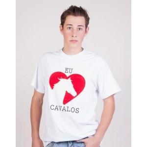 Camiseta Amo Cavalos - Branca