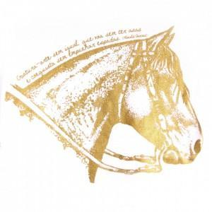 Baby Look Cavalo Crioulo - Branca