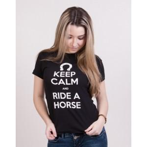 Baby Look Keep Calm and Ride a Horse - Preta
