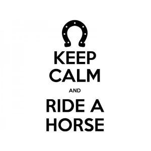 Adesivo de Carro Keep Calm and Ride a Horse